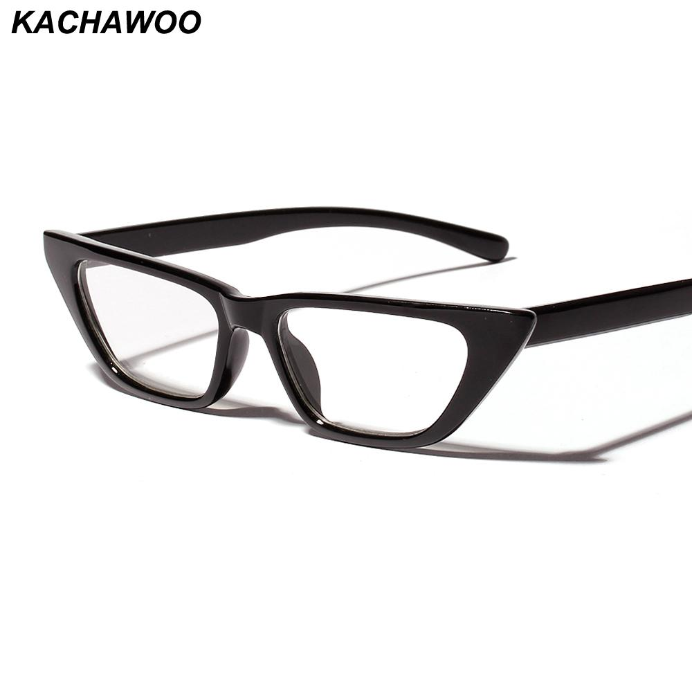 8cae0cdabbd 2019 Kachawoo Retro Eyeglass Frames Women Cat Eye Style Black Leopard Small  Frame Men Eyeglasses Cheap Dropshipping From Greenparty