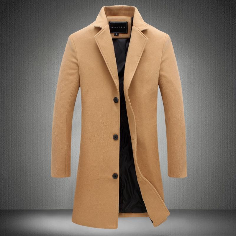 New Arrival Wool & Blends Suit Design Wool Coat Men's Casual Trench Coat Design Slim Fit Office Suit Jackets Coat
