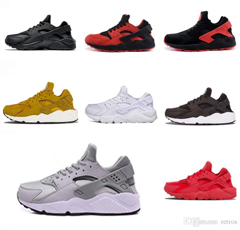 100% authentic 5abcc 83be4 Compre Nike Air Huarache Shoes ¡Muy Caliente! 2018 Huarache 1.0 Zapatillas  Para Correr Para Hombres Mujeres, Zapatillas De Moda Gris Blanco Huaraches  ...