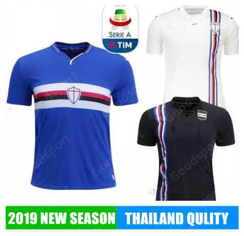 Camiseta De Fútbol Sampdoria 2019 INICIO AZUL NEGRO 2018 Quagliarella Praet  Linetty Jankto Kownacki Defrel CAMISETAS DE FÚTBOL Por Goodbuysport fc0e390a6e07a