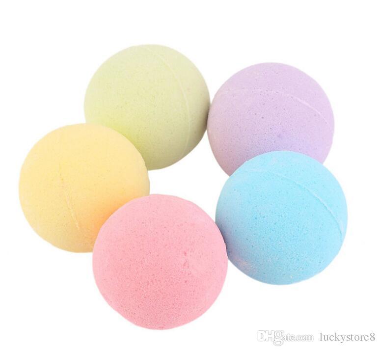 HOT Bubble Bath Bombs 40g Rosa Aciano Lavanda Aceite Esencial de Oregón Exuberante Fizzies Perfumado Sales de Mar Bolas Hechas A Mano SPA DHL