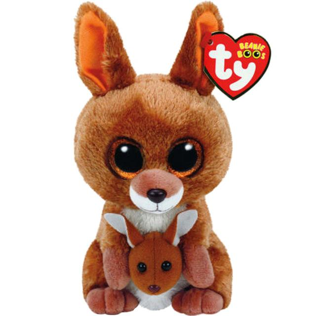 2019 Ty Beanie Boos Big Eyes Kipper Brown Kangaroo Cat Owl Cat Fox