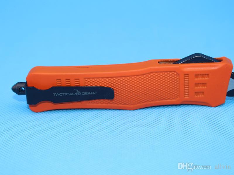 Allvin Red 8,2 pouces Medium 616 Auto Tactical Couteau 440C Double Edge Fine Lame Noire EDC Poche Couteaux Survie