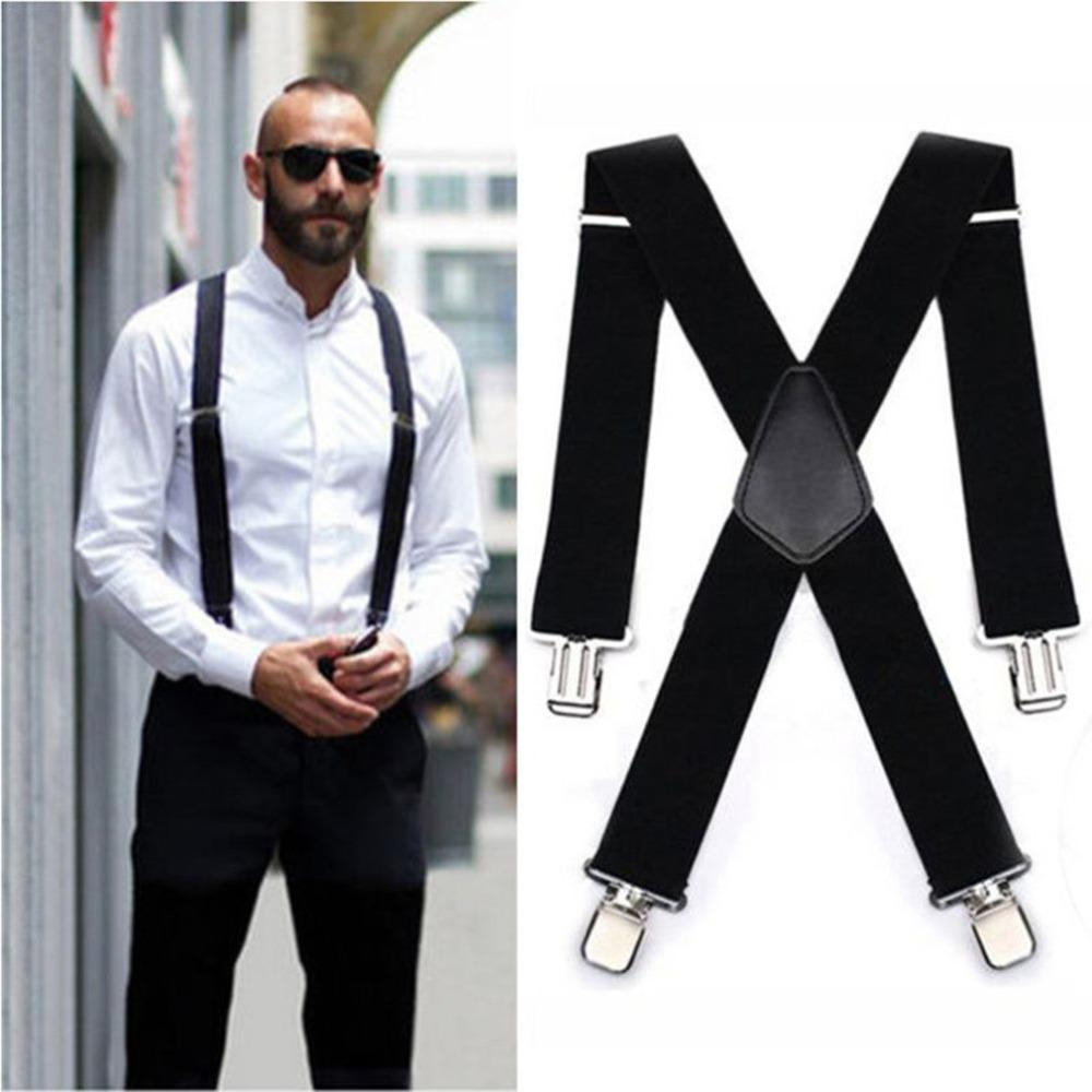 cad0764db OUTAD Men Shirt Suspenders 4 Clips Braces Male Vintage Pants Braces For  Women Belt Trousers 5 120cm Elastic Y Shape Pants Strap Canada 2019 From  Heathere