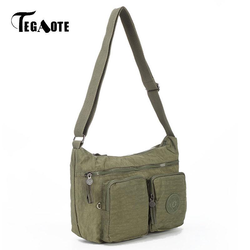 TEGAOTE Solid Messenger Bags Waterproof Nylon Women Handbags Brand Design Light  Cross Body Shoulder Bags Female Bolsa Sac A Main Big Bags Women Handbags ... 7b534f917a68c
