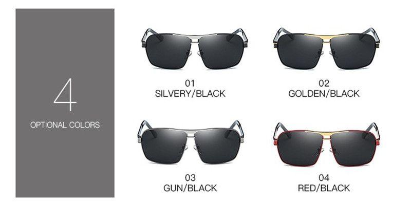 2018 lunettes de soleil polarisées pour hommes marque mâle conduite lunettes de soleil lunettes classiques oculos avec boîte originale 722