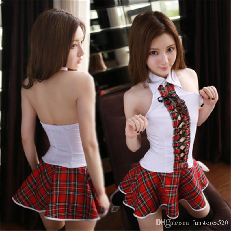 d23346383 Sexy Japanese School Girl Costume Women Schoolgirl Costume Uniform Lingerie  Sexy Hot Erotic Fantasia Homme Role Playing Cami Set Cami Sets From  Funstores520 ...