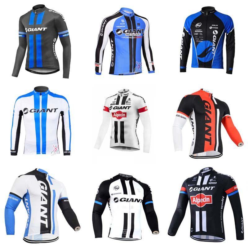 GIANT Team Cycling Long Sleeves Jersey Men S Long Sleeve Shirts Bicycle  Cycling Clothing Mountain Bike Wear Outdoor Sportswear 840716 Custom  Cycling Jerseys ... f21fd634f