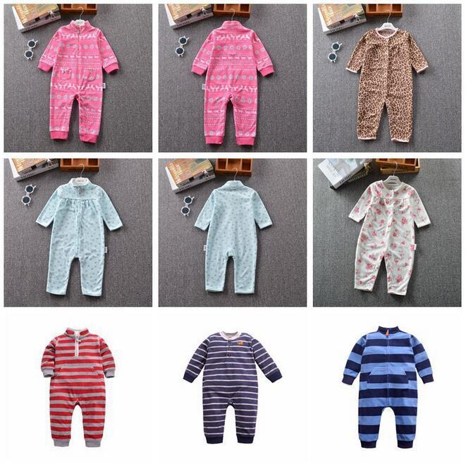 1c5714db912e 2019 2017 Baby Clothes Bebes Jumpsuit Collar Fleece Newborn Pajamas ...