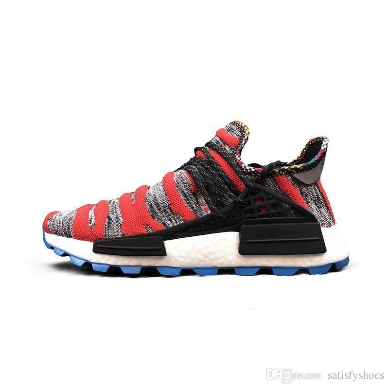 2fa9158f990d49 2018 Pharrell Williams Human Race Solar Pack Women Men Running Shoes Sport  Holi Cream Trail Pharell Williams Nmds Human Races Trainer Black Running  Shoes ...