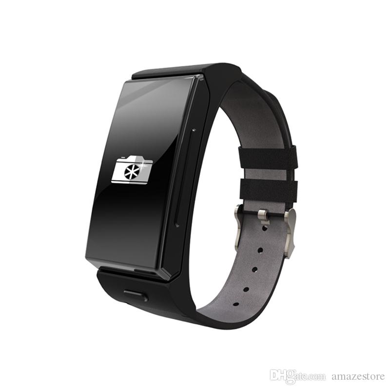 U mini montre casque Bluetooth U20 personnelle intelligente bracelet portable moniteur Heartrate caméra à distance pour iPhone smartphone Android