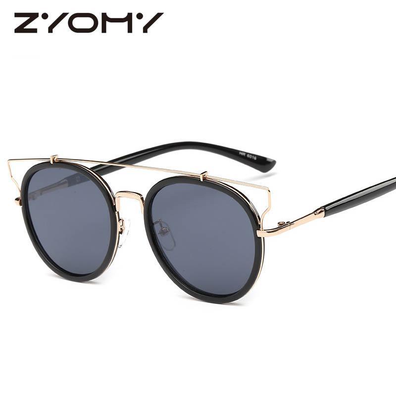 b1044616e Female Sunglasses Women Oval Men Shades Colorful Lenses Glasses Double Beam  Brand Designer Reflective Flat Oculos De Sol 2018 Sunglasses Eyeglasses  From ...