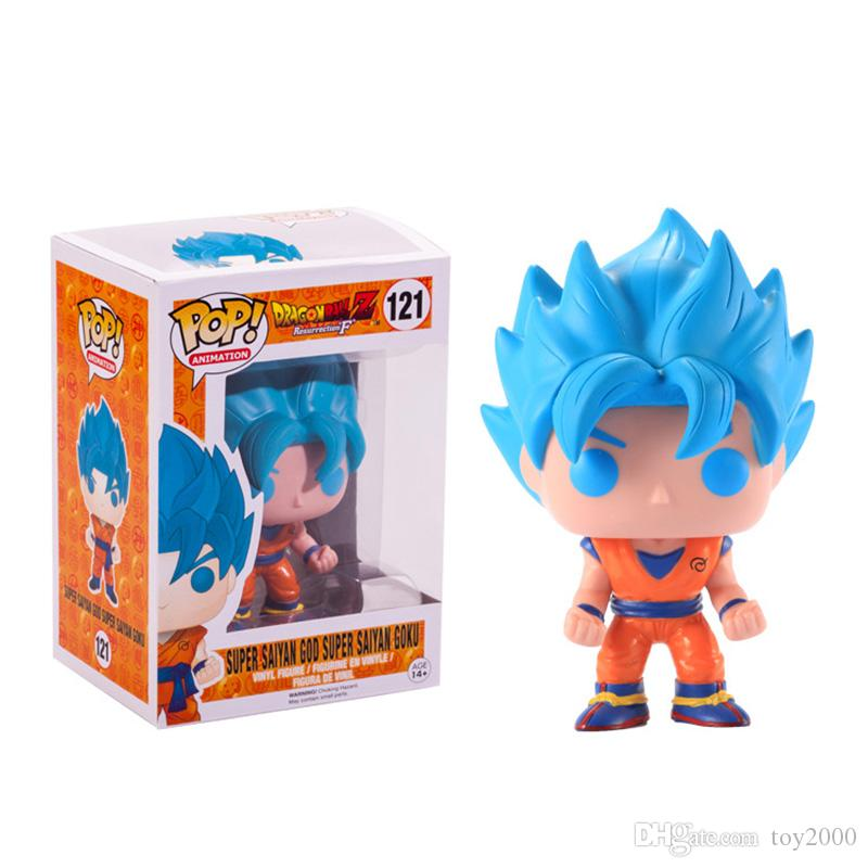 FUNKO POP Dragon Ball Z Son Goku Vegeta Piccolo Cell PVC Action Figure Collectible Model Retail action figures surprise doll for kids toys