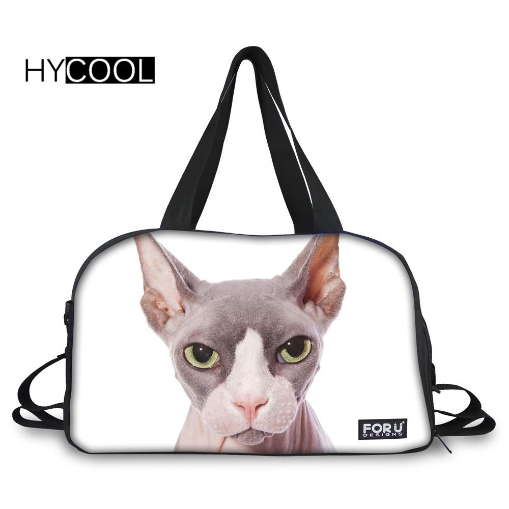 ceb042bff95c 2018 HYCOOL Sports Bag For Men Women Fitness Hairless Cat Printed  Multifunction Waterproof Gym Bags Lady Outdoor Training Yoga Bags From  Duriang
