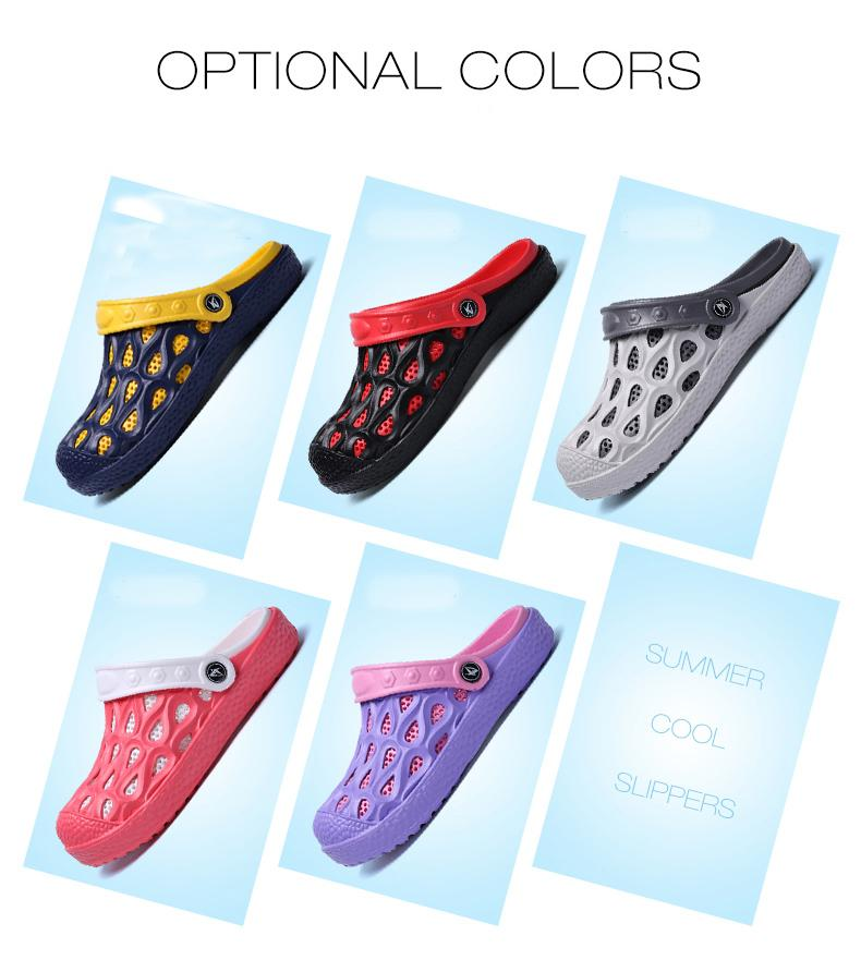 f03d227f228 Summer Fashion Unisex Men Women Clogs Slippers Breathable Mules Leisure  Style Non-slip Beach Shoes Rubber Garden Shoes Hole EVA Sandals