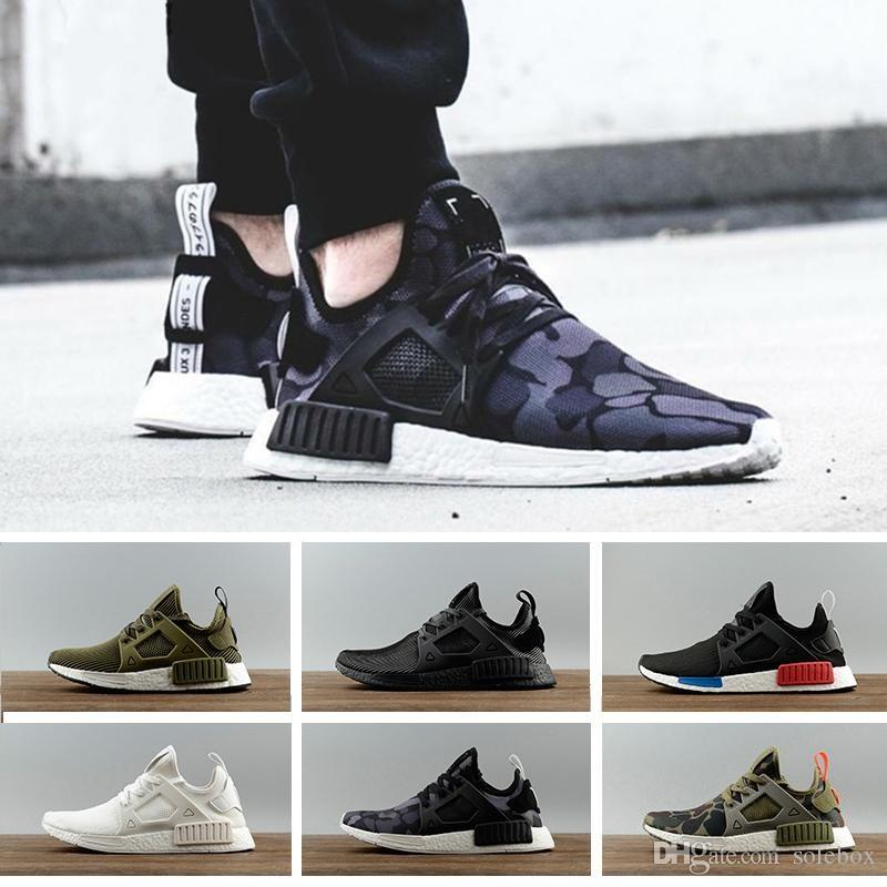 e8da1c0307c8 2019 2018 NMD XR1 Running Shoes Mastermind Japan Skull Olive Green Camo  Glitch Black White Blue Zebra Pack Men Women Sports Shoes From Solebox