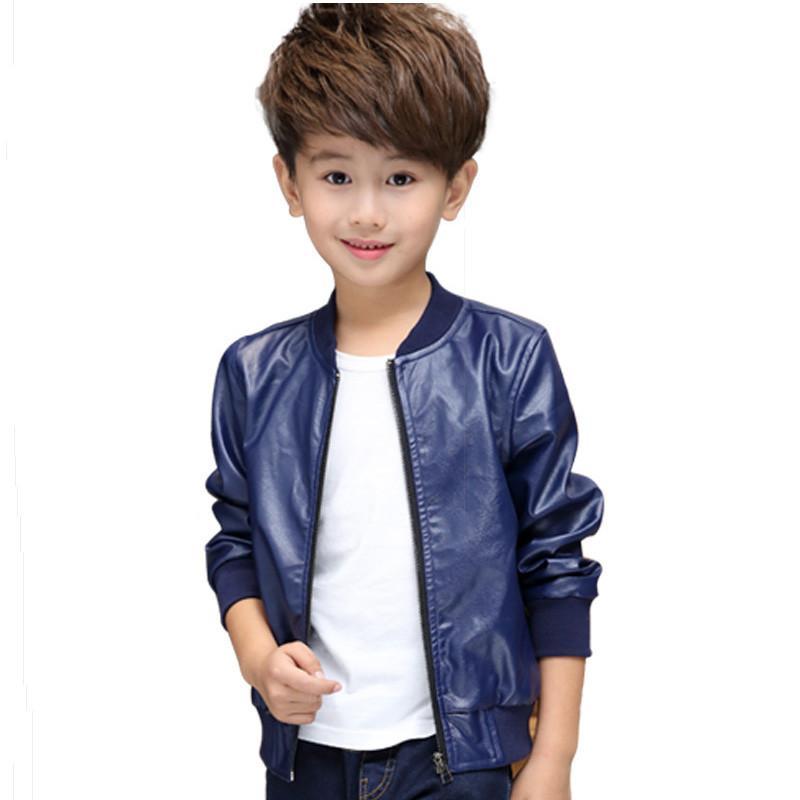 Cool Kids Leather Jacket Coat Solid Gentleman Style Jacket Baseball