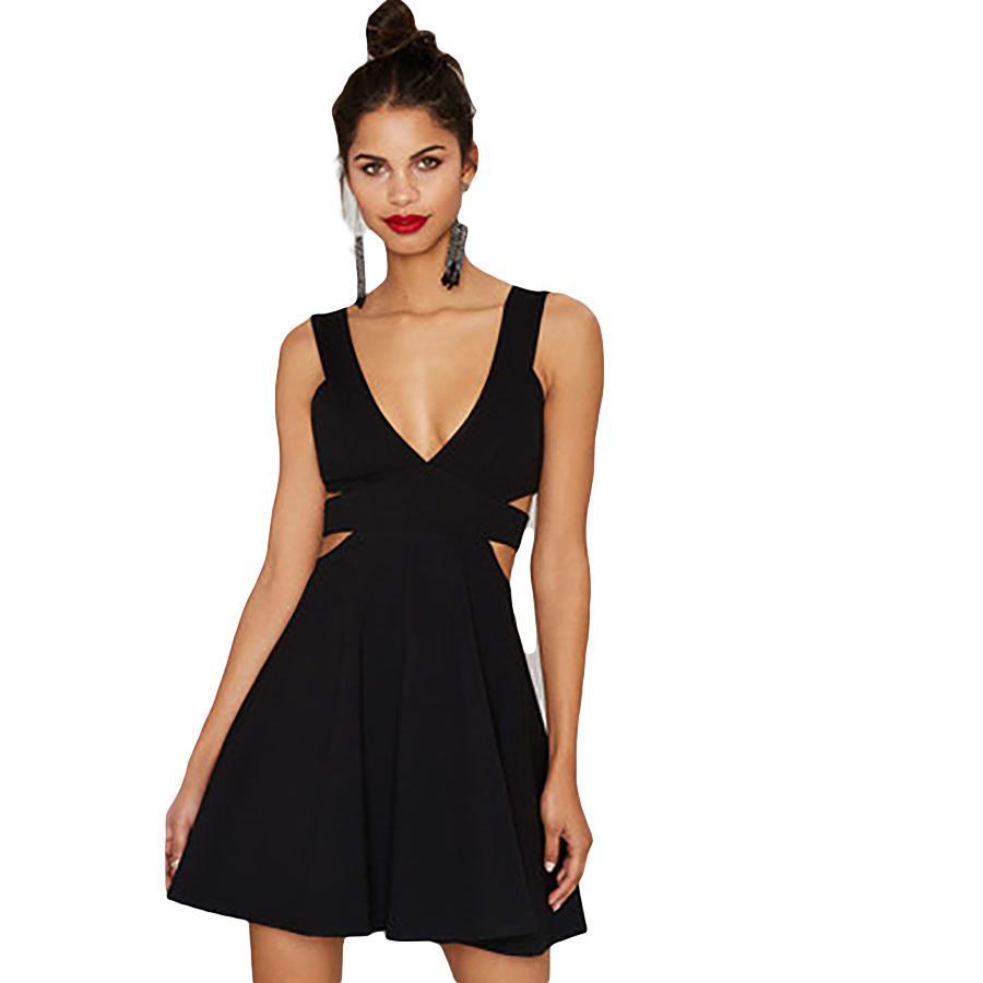 2cb7e196b44 Satın Al Yaz Elbise Kadınlar Zarif Seksi Parti Elbise Siyah Mini Elbise Kısa  Kore Tarzı Vestido Vintage Elbise Bayanlar Için Moda 60L0073