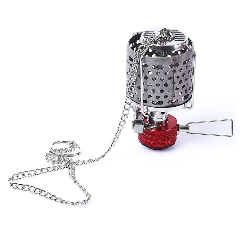 Mini Camping Stove Gas Stove Lightweight Lantern Useful Lamp Folding Picnic Stainless Steel Split Burners Equipment