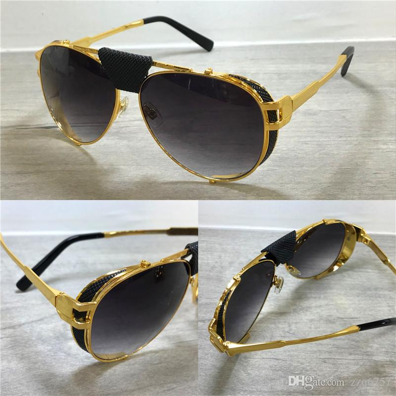 cf753b1aab3c New Fashion Designer Men Sunglasses 0981 Classic Pilots Frame With Leather  Top Quality Uv400 Outdoor Protection Eyewear With Original Box Cheap  Designer ...