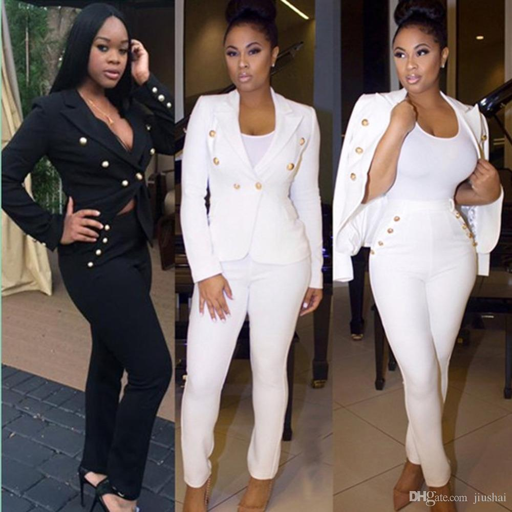 946a96e9094b6 Wholesale- Europe and United States 2016 Hot Sale Exotic designer full  length jumpsuit 2 piece women sets sexy women slim bodycon rompers