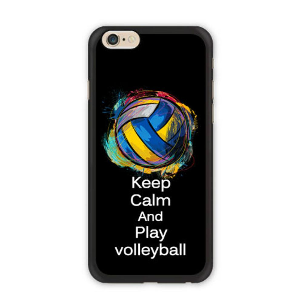 official photos d630d e15ba Keep Calm And Play Volleyball Phone Case For Iphone 5c 5s 6s 6plus 6splus 7  7plus Samsung Galaxy S5 S6 S6ep S7 S7ep