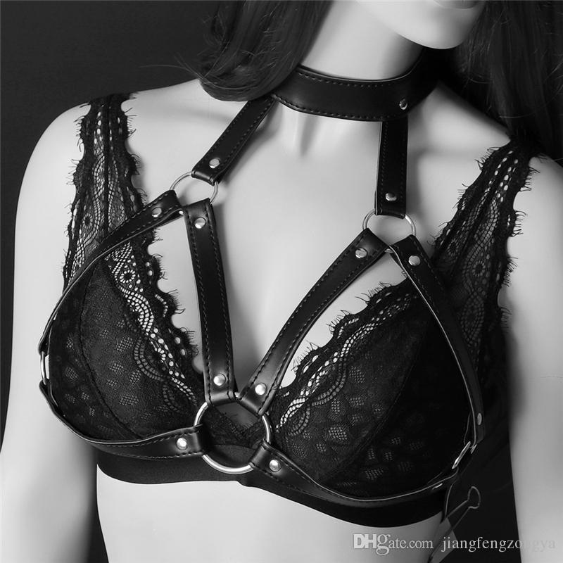 Fashion New goth femminile reggicalze cinghia Sexy Vanessa Garter Belt associazione rilegatura del collo vincolo biancheria intima vendita al dettaglio