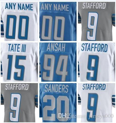 2019 Mens Jersey Matthew Stafford Barry Sanders Golden Tate III Custom Detroit  Lions Vapor Untouchable American Womens Football Kids Jersey Custom Jersey  ... 5a9d7d638