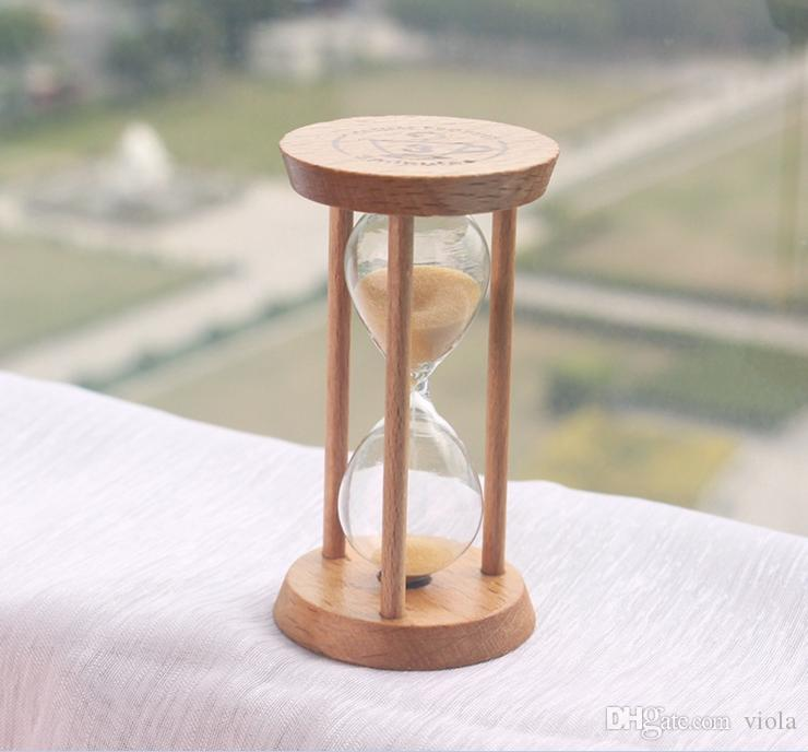 Creative 3 Mins Wooden Frame Sandglass Sand Glass Hourglass Time Counter Count Down Home Kitchen Timer Clock Decoration Gift