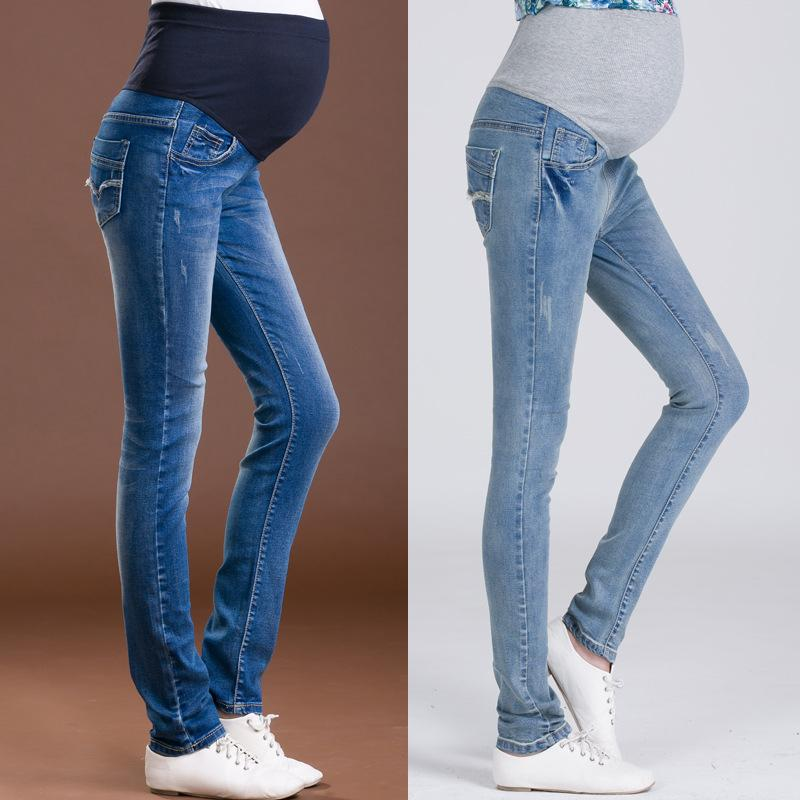 2ecf4b7b0ed 2019 New Jeans Maternity Clothing Pants For Pregnant Women Clothes Nursing  Trousers Pregnancy Overalls Denim Long Prop Belly Legging From Rainbowny