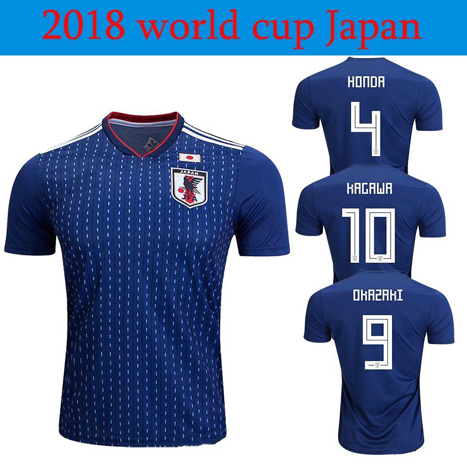 008cc9ac6 2019 2018 World Cup Soccer Jersey 18 19 Japan Home Blue Soccer Shirt  10  KAGAWA  9 OKAZAKI  4 HONDA Football Uniform 18 Football Shirts From  Jimsports