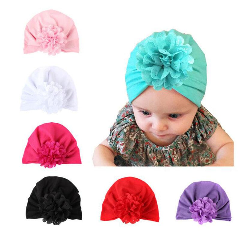 Flowers Style Autumn And Winter New Baby Supplies Children s Hats ... dcfdffb2fe39