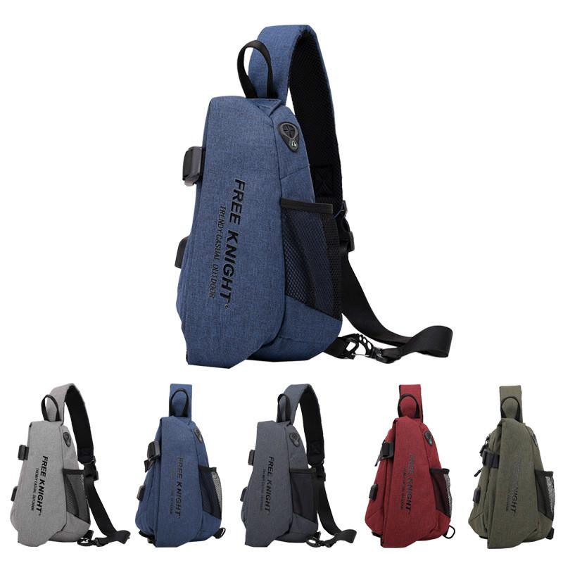 208f40fbe1f 2019 Outdoor Leisure Chest Bag USB Charging Port Backpack Waterproof Anti  Theft Men High Quality Crossbody Messenger Bag From Water sports