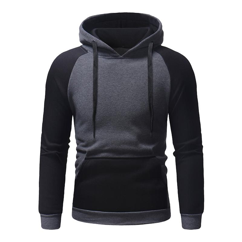 Men's Clothing Brand 2018 Hoodie Hip Hop Patchwork Black Hoodies Men Fashion Tracksuit Male Sweatshirt Hoody Mens Purpose Tour Hoodie
