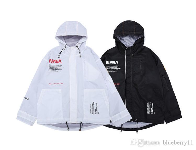 210e33c4194a Noir Vestes Hip Acheter Designer Hop Streetwear Veste Automne Blanc qxCA0