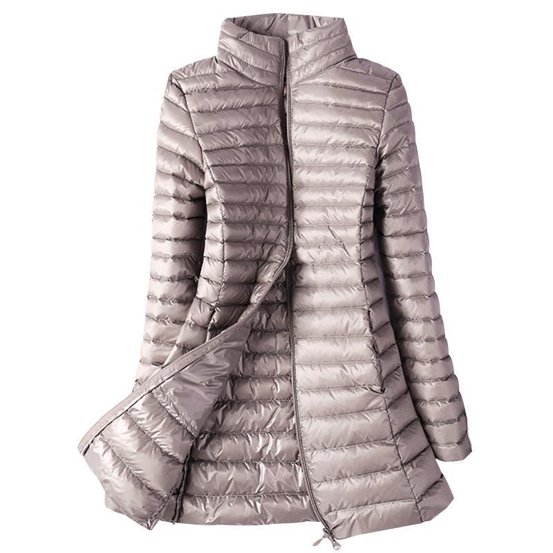 0d771f9469 Piumini da donna invernali Plus Size 4XL Piumini da donna imbottiti in  piuma d'oca ultra leggera Slim Park