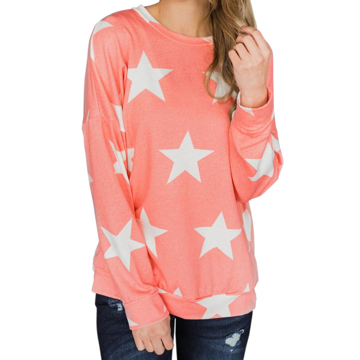Pullover Women Pink Autumn T Shirts Winter Plus Size Female T Shirt Stars  Printed Tees Casual Long Sleeve Sexy Tshirt Tops GV573 Clothes T Shirt  Crazy T ... b86eb3b4cab3