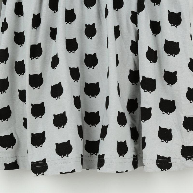 Invierno otoño primavera vestido de niña Animal Print niños ropa 2017 moda de algodón de manga larga para niñas pequeñas niños ropa casual