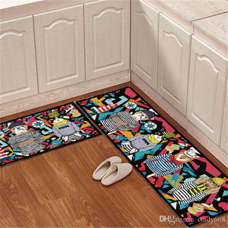 Cartoon Kitchen Floor Mat Door Mat Mattress Bathroom Antiskid Pad Long Strip Absorbent Household Carpet Super Soft Bathroom Carpet