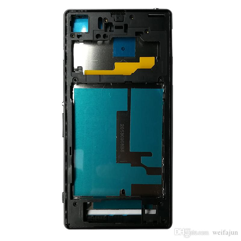 New Housing For Sony Xperia Z1 L39H C6902 C6903 Full Housing Front Chassis + Middle Frame Back Battery Case + Port Cover + Sticker