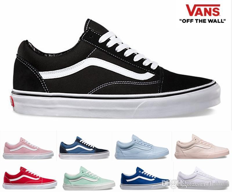 ladies black leather vans shoes