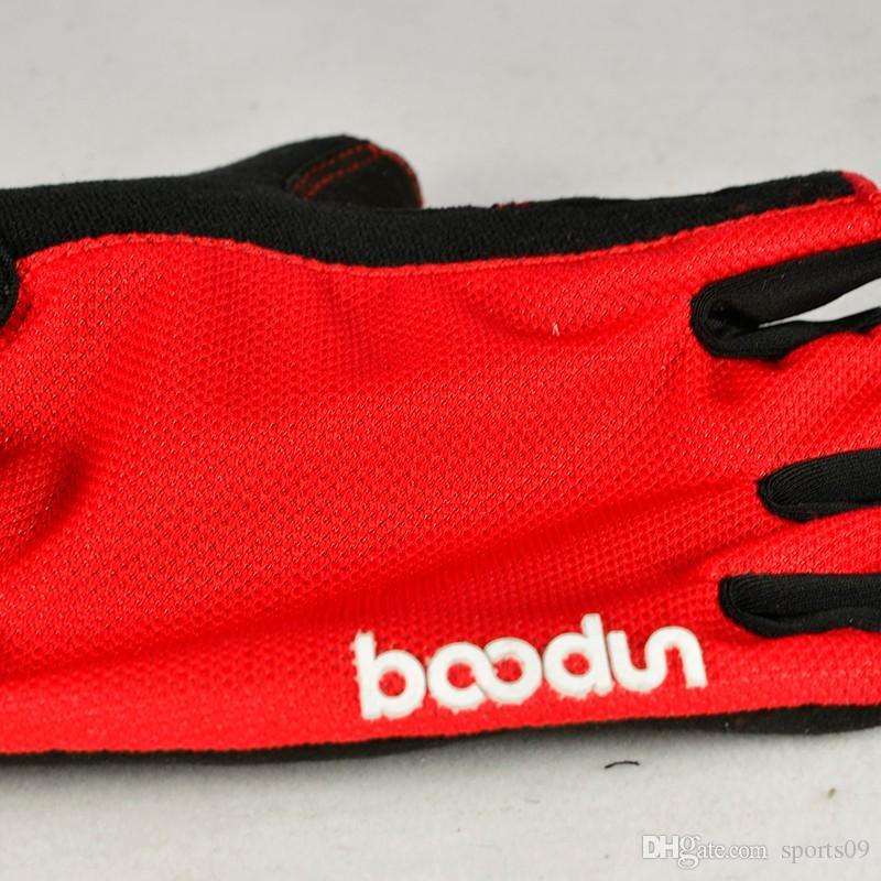 Boondun Bike Gloves medio dedo equipo de la bicicleta para hombres y mujeres guantes de ciclismo Gym negro rojo Pad Non Slip Gym Fitness Parkour guantes