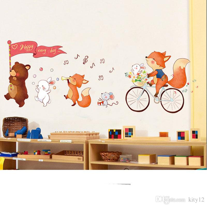 Wholesale New Removable Cute Bear Wall Stickers Art Decal Wall Post Nursery  Girl Baby Children Bedroom Decor Wall Decal Designs Wall Decal For Bedroom  ...