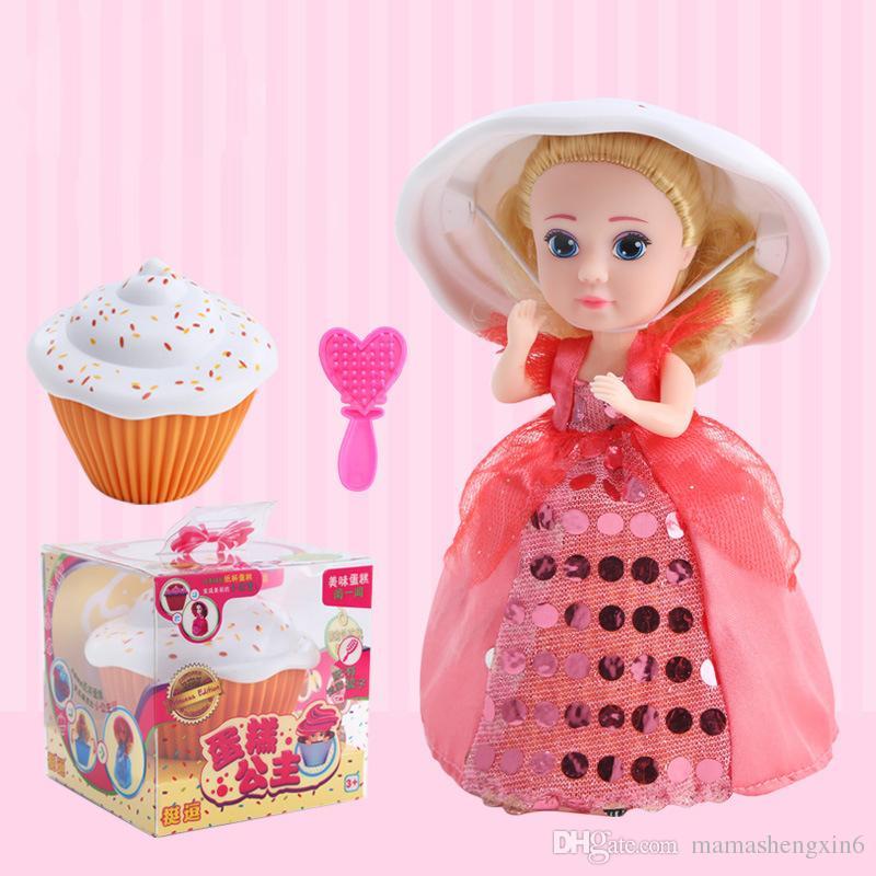 Grosshandel Neue Cupcake Surprise Scented Princess Puppe Reversible