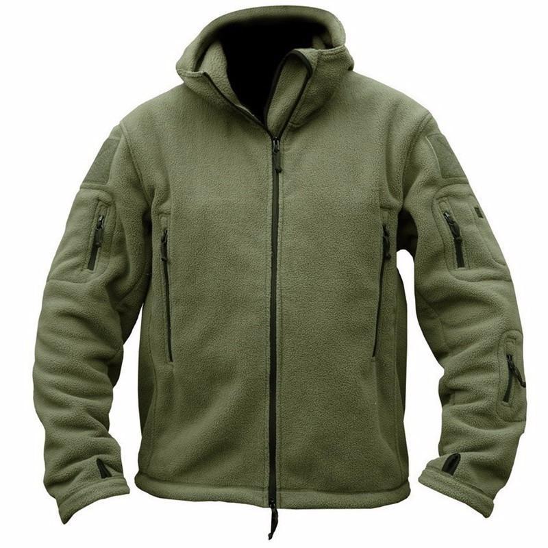 Acquista Inverno Militare Tattico Giacca In Pile Uomini Caldi Vestiti  Polari Dell esercito Più Tasca Tuta Sportiva Cappotto Termico Con Cappuccio  Cappotto ... d6c2ce6df1c