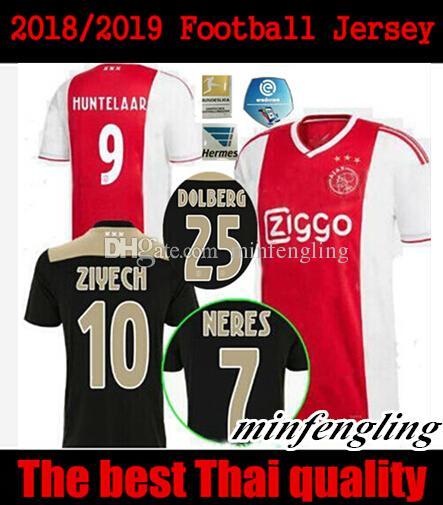 479dbe96b10 2019 2018/2019 Ajax Blacker Soccer Jersey 18/19 Ajax FC Soccer Jerseys Away Shirt  2018 Customized #10 KLAASSEN #34 NOURI Football Uniform From Minfengling,  ...