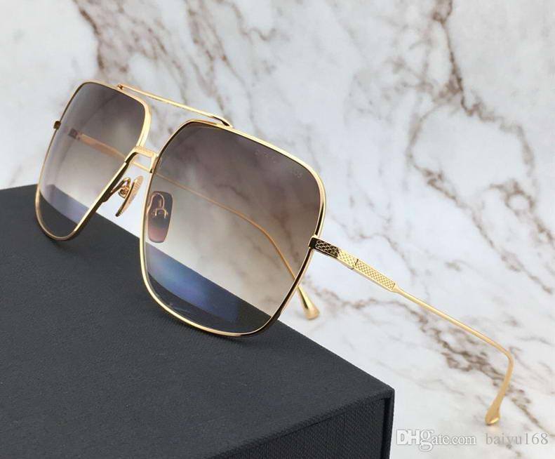 ebf1ca63ada Mens FLIGHT 5 Pilot Sunglasses GOLD Dark Brown to clear Gradient Lenses  Designer Sunglasses Shade Oversized Glasses New with box