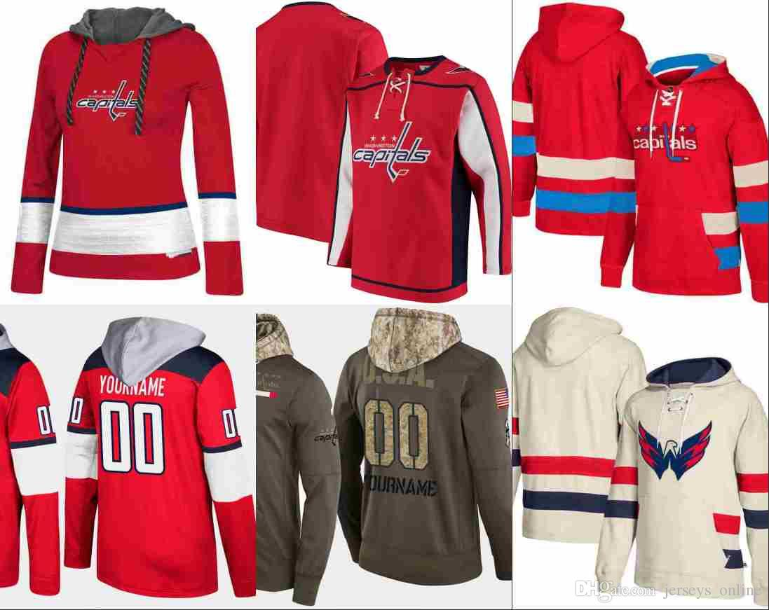 best sneakers 57c8d f6a48 Washington Capitals hoodie Alex Ovechkin Nicklas Backstrom Tom Wilson  Braden Holtby TJ Oshie Hockey Jersey Sweatshirt stitched