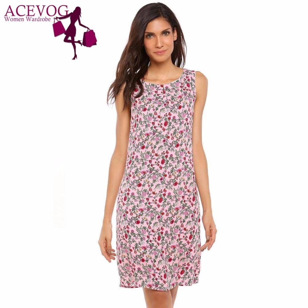 921de50b7 ACEVOG Compre Vestido Del Tanque De Las Mujeres De ACEVOG Verano Del Otoño .