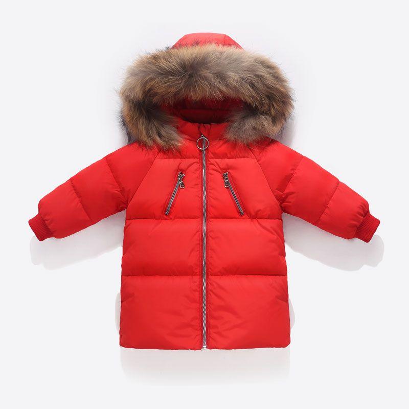 636f57d28190 Fashion Children Girls Winter Coat Boys Winter Jacket Kids White Duck Down  Warmer Thicken Fur Collar Hooded Long Down Coats Childrens Winter Coats  Sale Warm ...